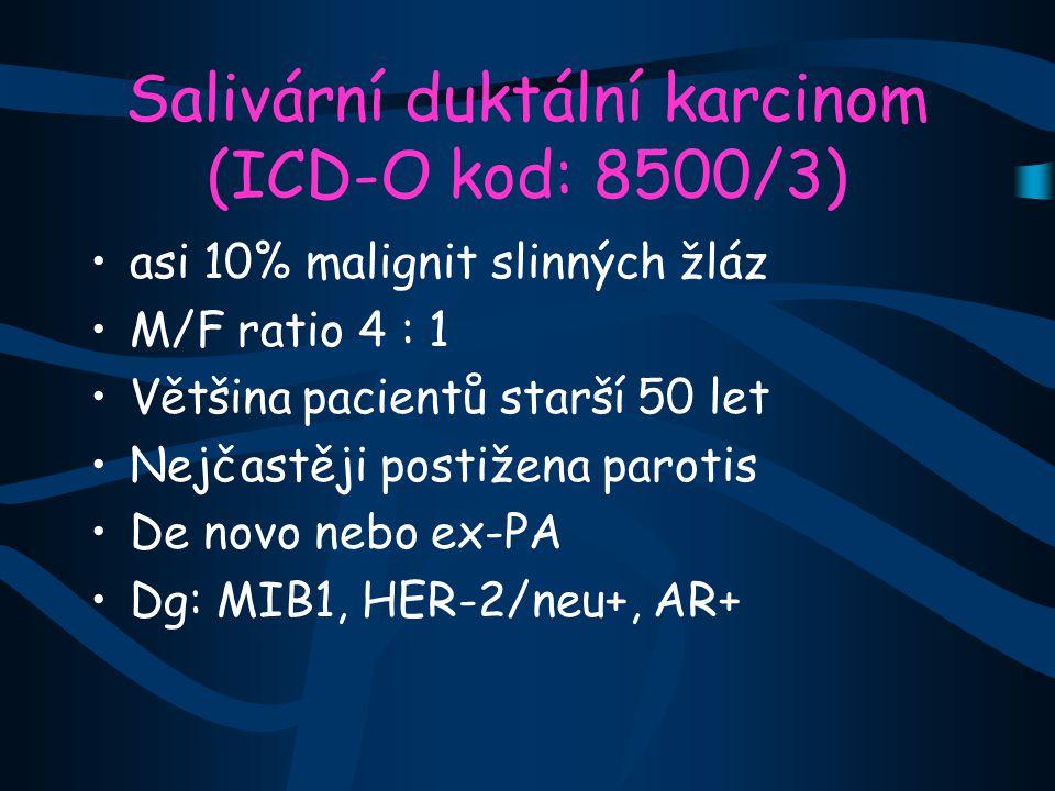 Salivární duktální karcinom (ICD-O kod: 8500/3)