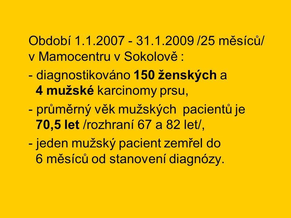 Období 1.1.2007 - 31.1.2009 /25 měsíců/ v Mamocentru v Sokolově :