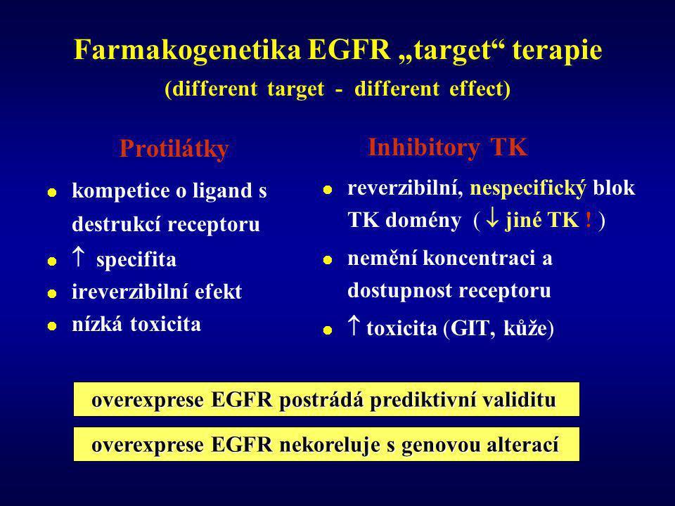 "Farmakogenetika EGFR ""target terapie (different target - different effect)"