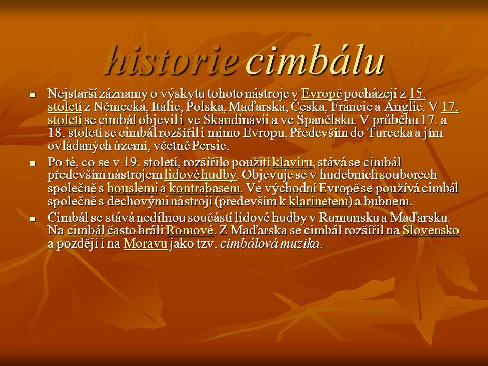 historie cimbálu