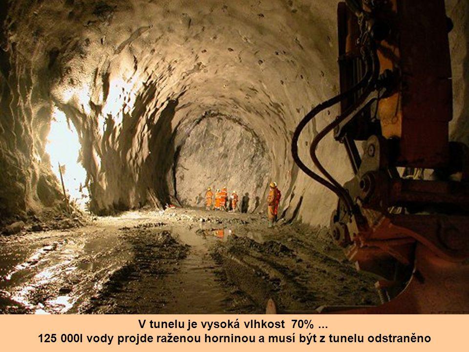 V tunelu je vysoká vlhkost 70% ...