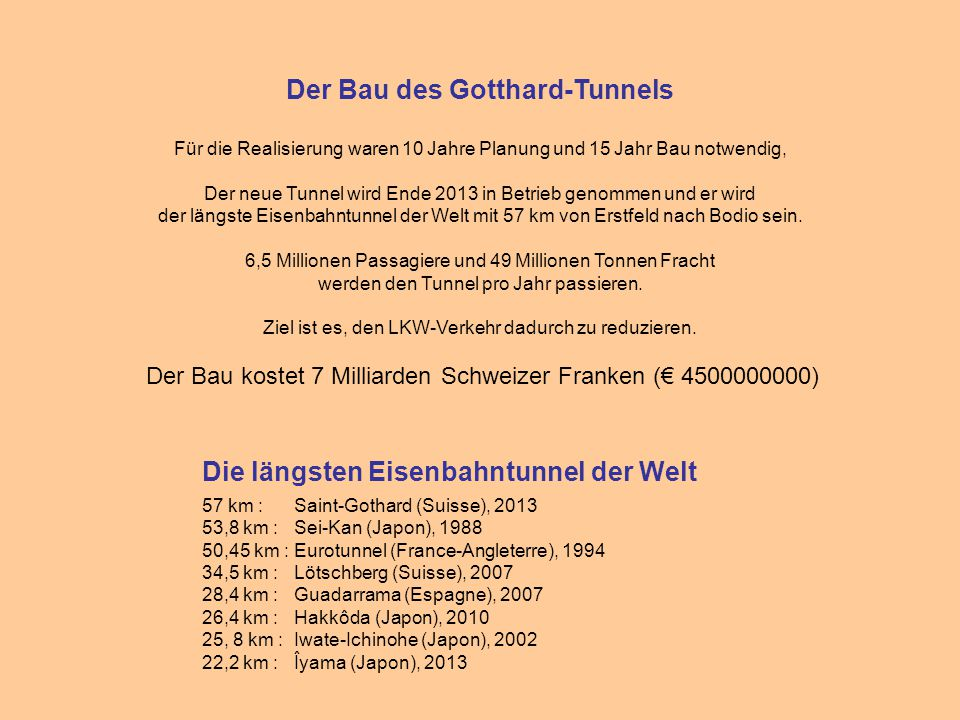 Der Bau des Gotthard-Tunnels