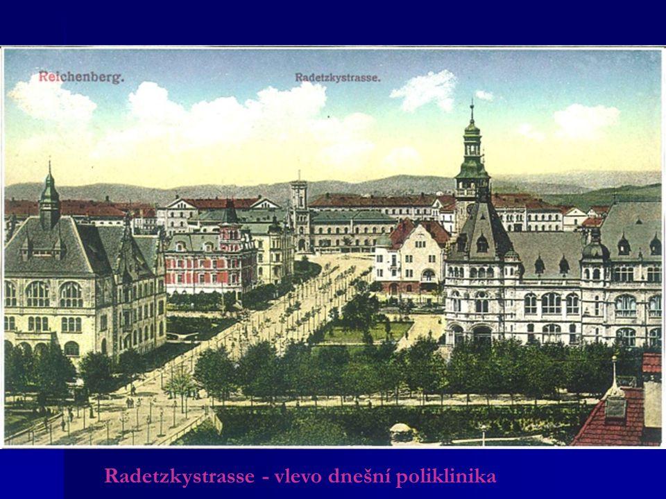 Radetzkystrasse - vlevo dnešní poliklinika