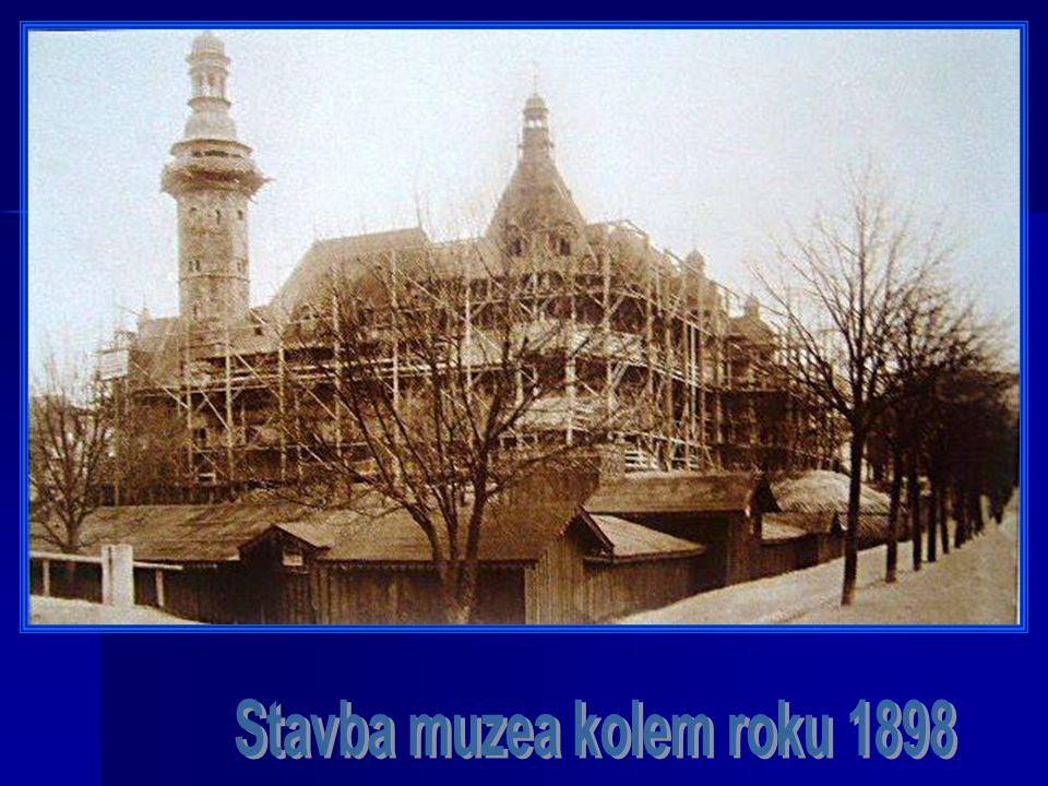 Stavba muzea kolem roku 1898