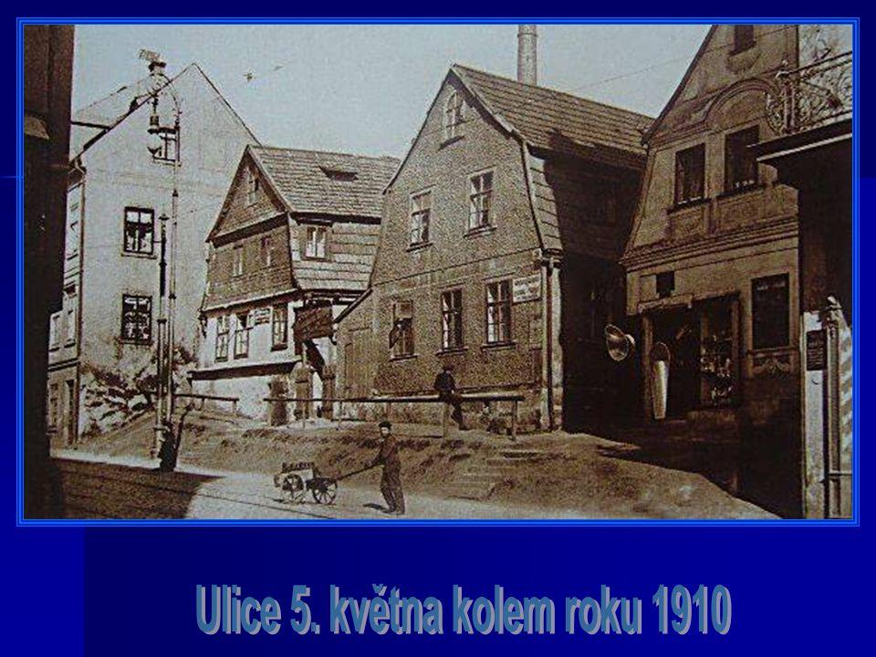 Ulice 5. května kolem roku 1910