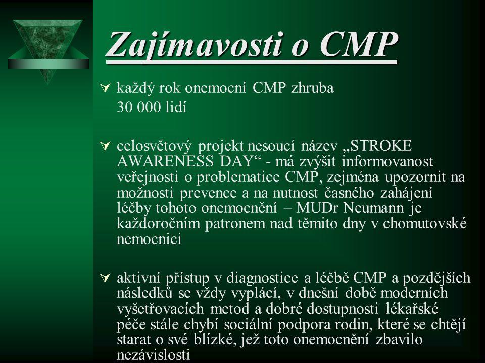 Zajímavosti o CMP každý rok onemocní CMP zhruba 30 000 lidí
