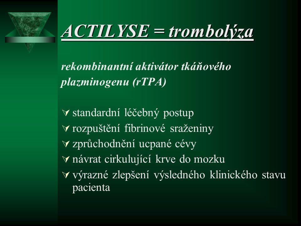 ACTILYSE = trombolýza rekombinantní aktivátor tkáňového
