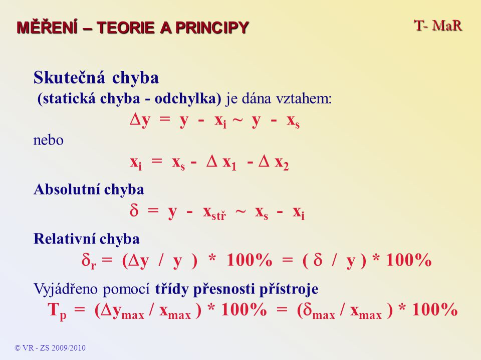 Tp = (ymax / xmax ) * 100% = (max / xmax ) * 100%