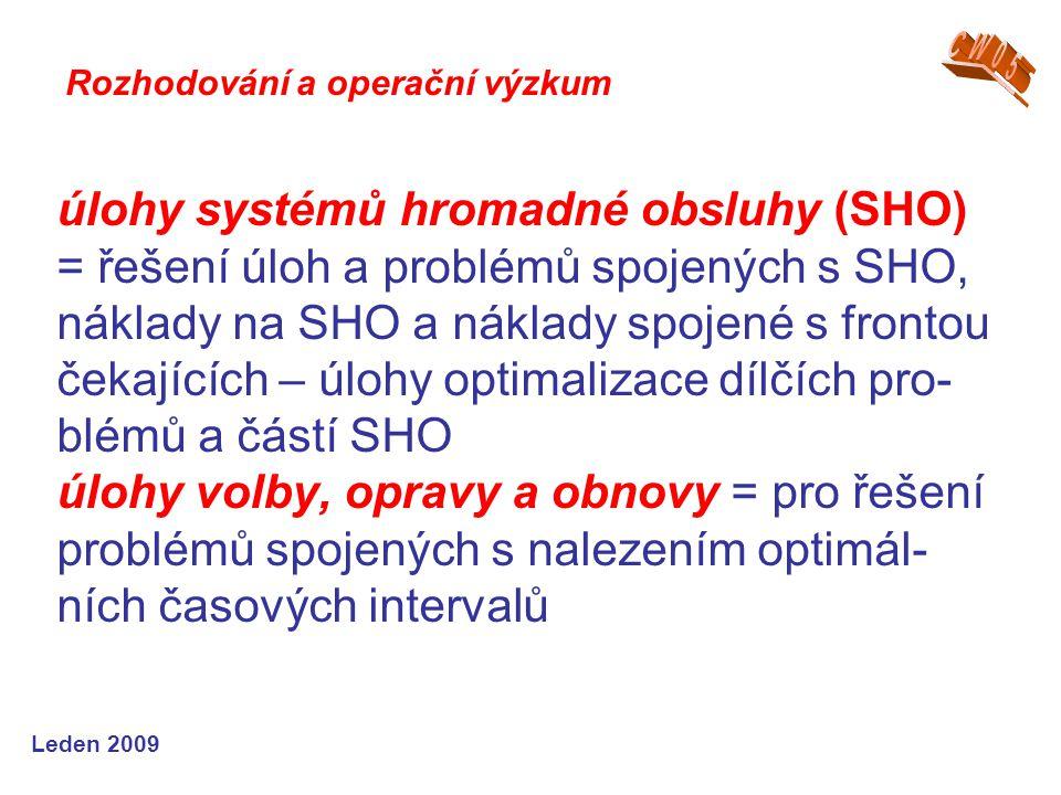 CW05 Rozhodování a operační výzkum.