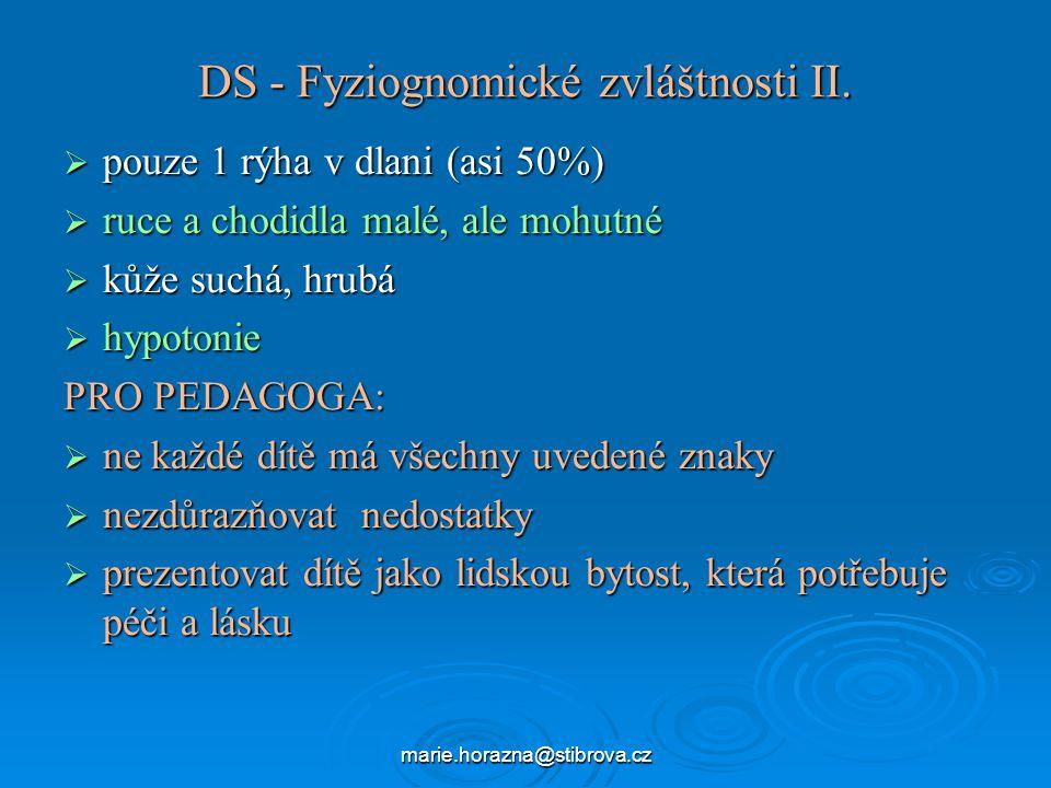 DS - Fyziognomické zvláštnosti II.