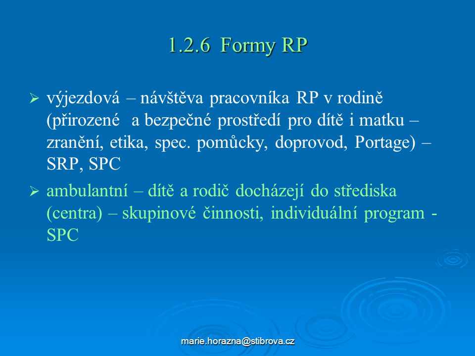1.2.6 Formy RP