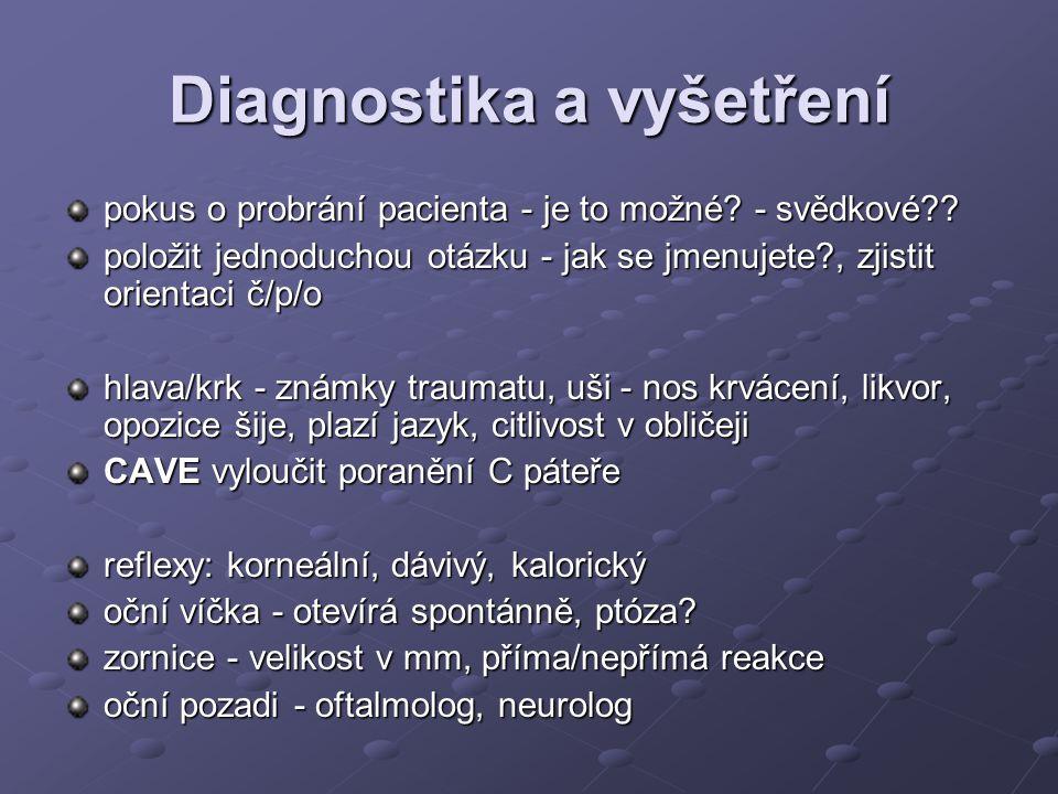 Diagnostika a vyšetření