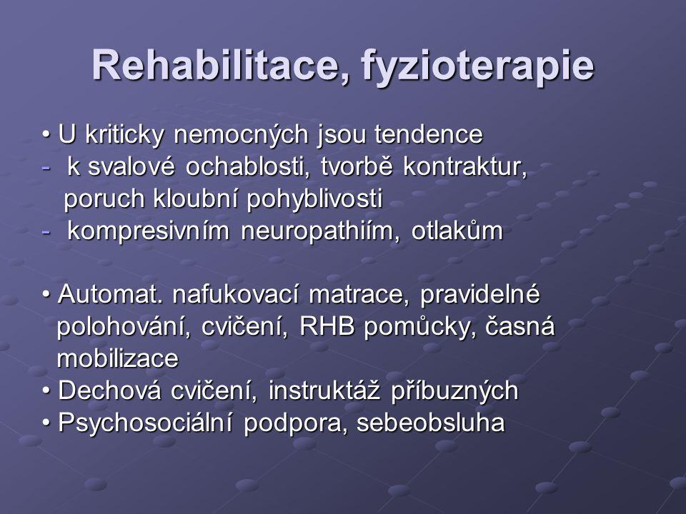 Rehabilitace, fyzioterapie