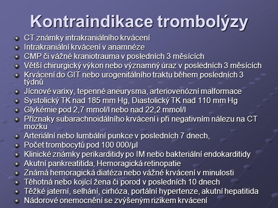 Kontraindikace trombolýzy