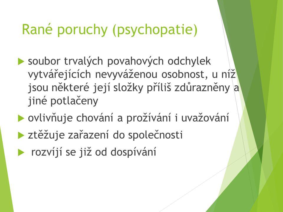 Rané poruchy (psychopatie)