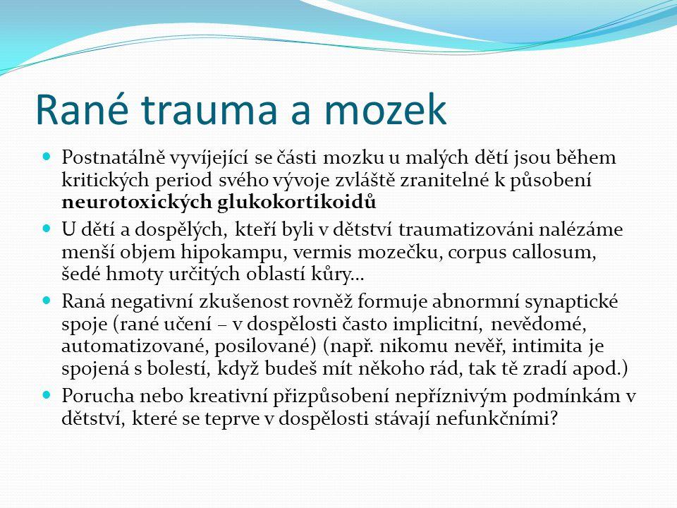 Rané trauma a mozek