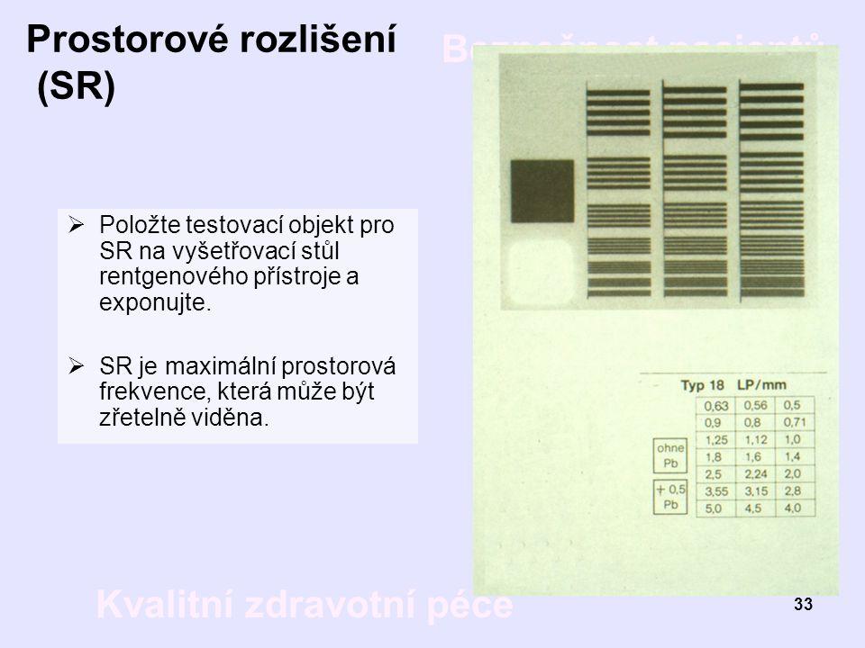 Prostorové rozlišení (SR)