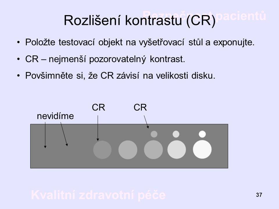 Rozlišení kontrastu (CR)