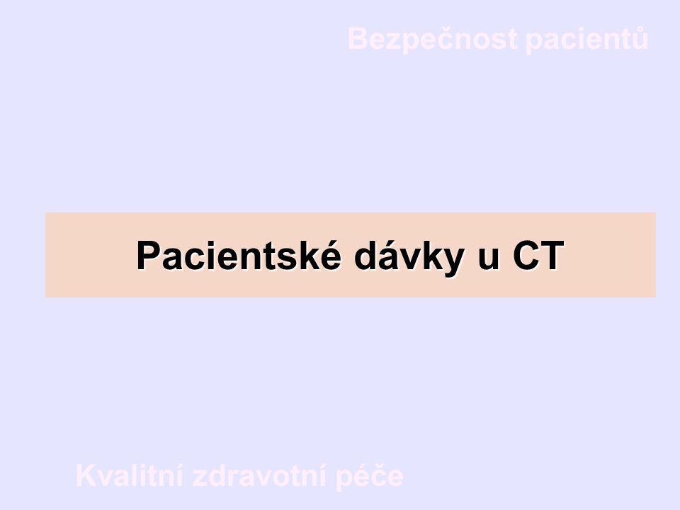 Pacientské dávky u CT