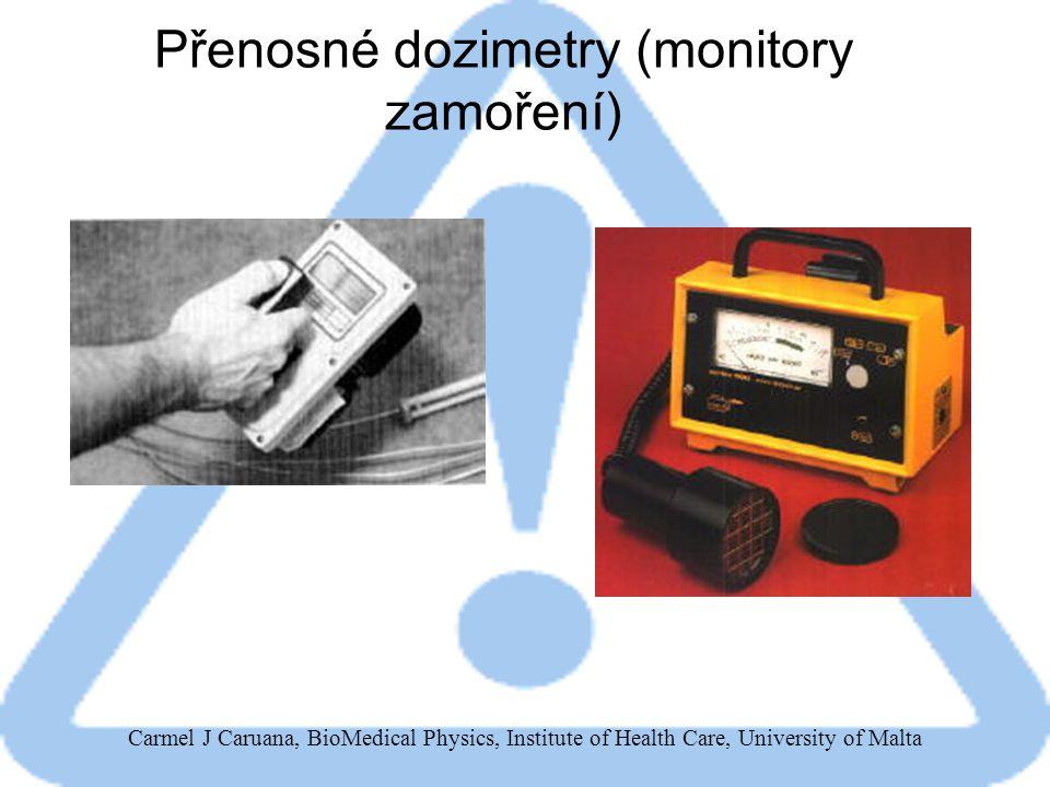 Přenosné dozimetry (monitory zamoření)