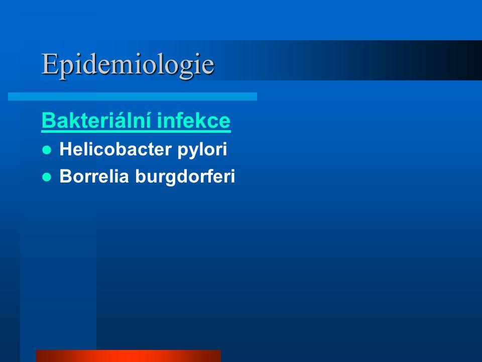 Epidemiologie Bakteriální infekce Helicobacter pylori