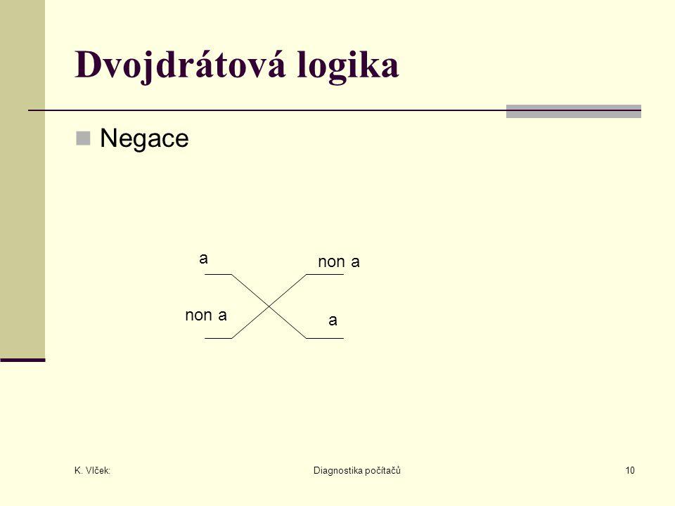 Dvojdrátová logika Negace a non a non a a K. Vlček: