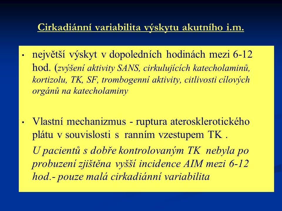 Cirkadiánní variabilita výskytu akutního i.m.