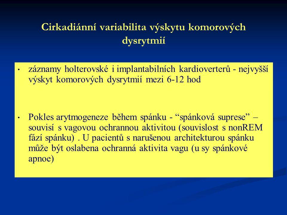 Cirkadiánní variabilita výskytu komorových dysrytmií