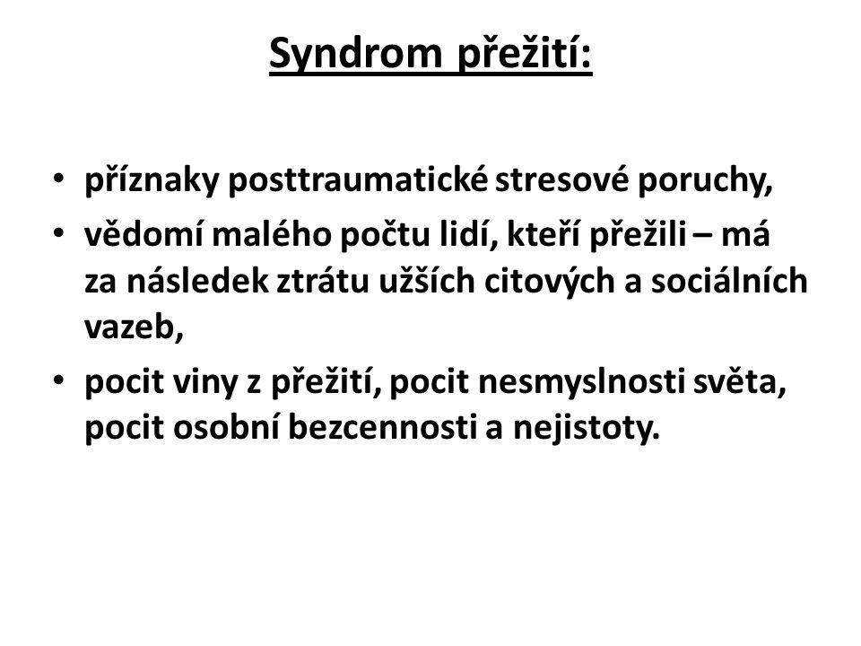Syndrom přežití: příznaky posttraumatické stresové poruchy,