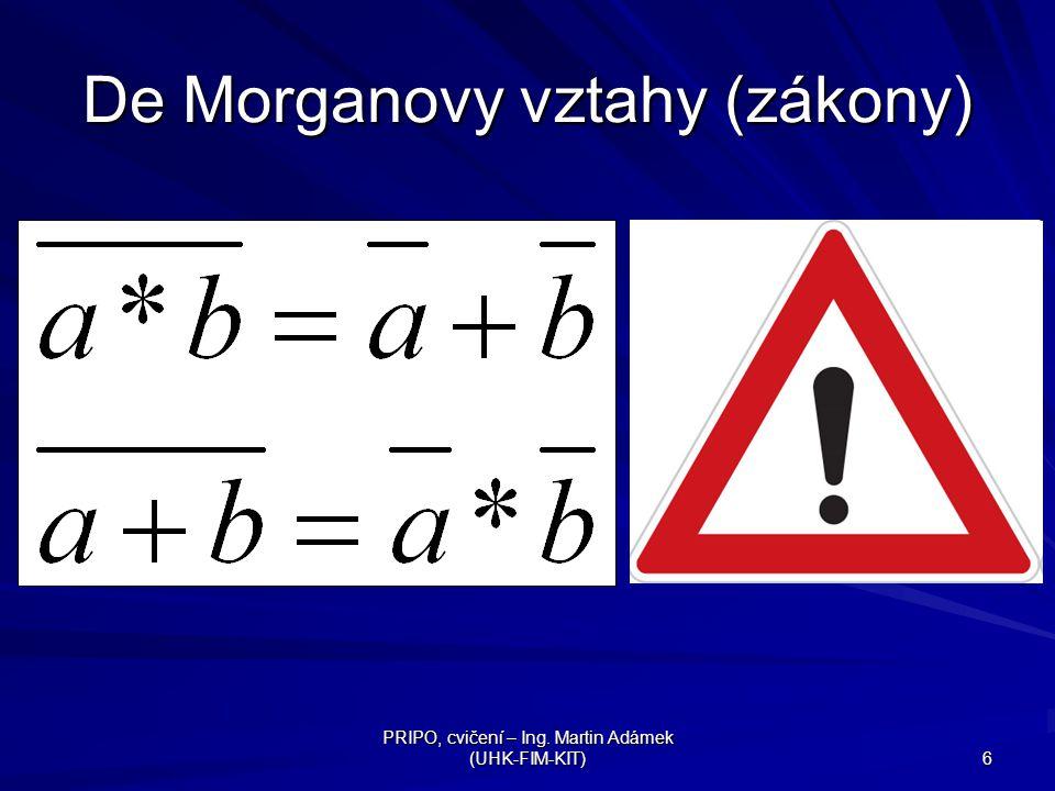 De Morganovy vztahy (zákony)