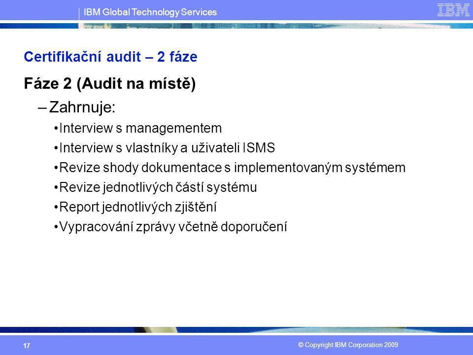 Certifikační audit – 2 fáze