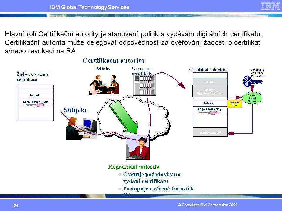 Hlavní rolí Certifikační autority je stanovení politik a vydávání digitálních certifikátů.