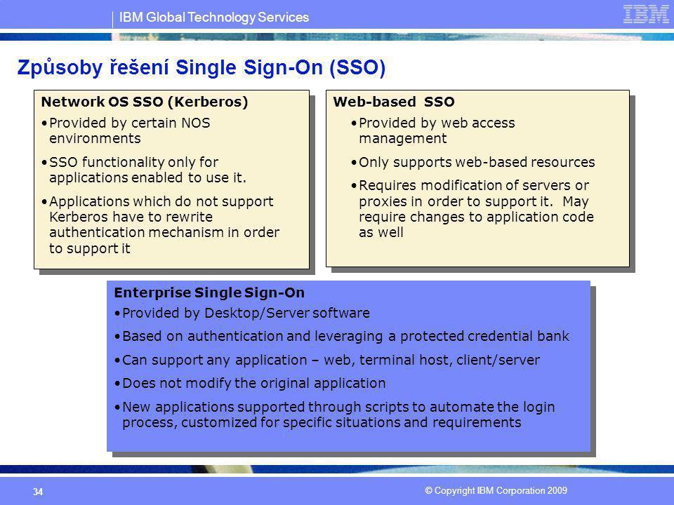 Způsoby řešení Single Sign-On (SSO)