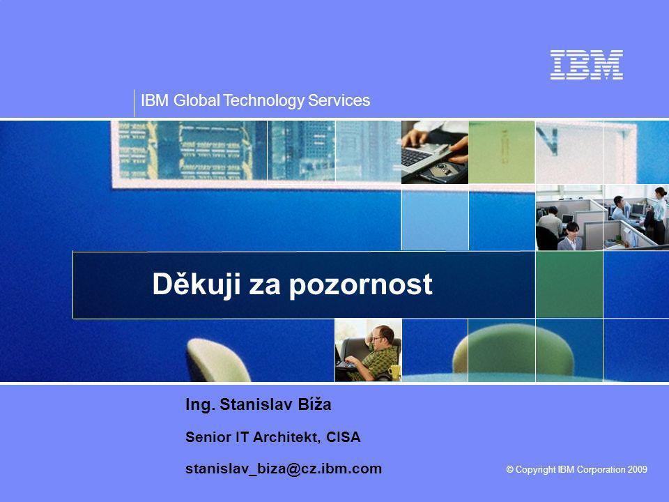 Děkuji za pozornost Ing. Stanislav Bíža Senior IT Architekt, CISA