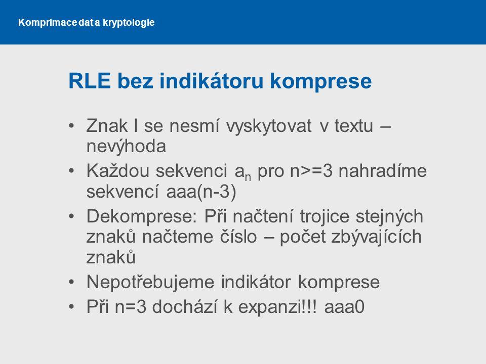 RLE bez indikátoru komprese