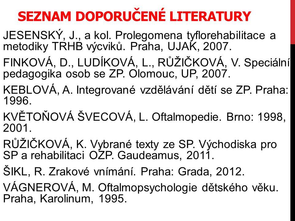 Seznam doporučené literatury