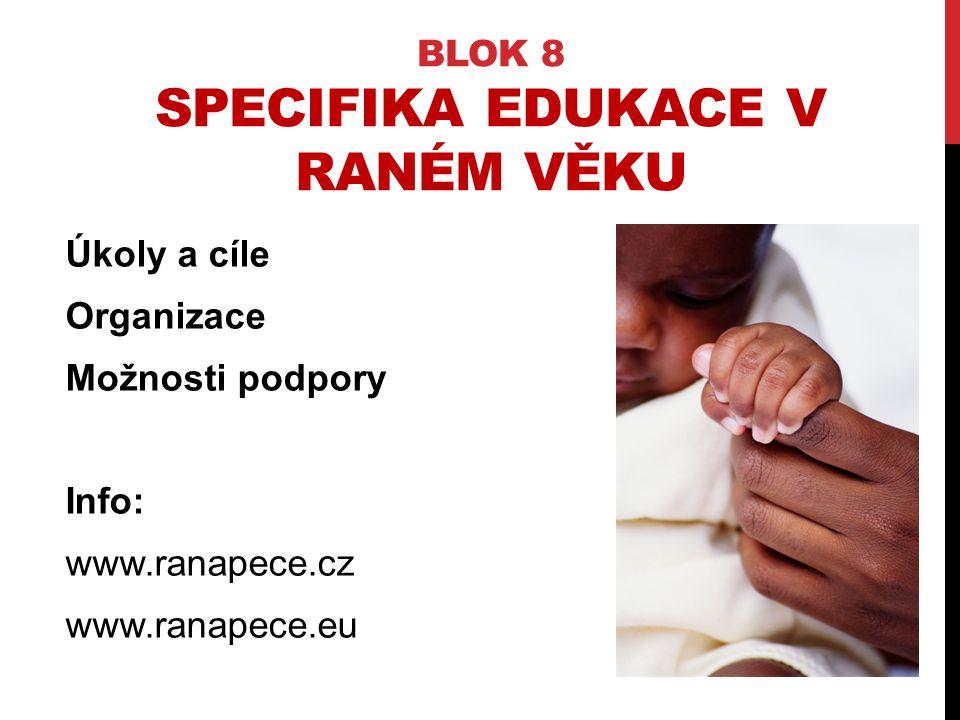 Blok 8 Specifika edukace v raném věku