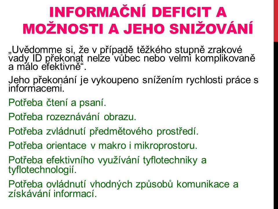 Informační deficit a možnosti a jeho snižování