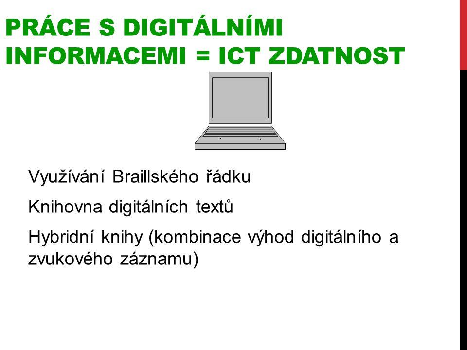 práce s DigitálníMI informacemi = ICT ZDATNOST