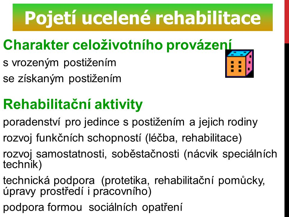 Pojetí ucelené rehabilitace