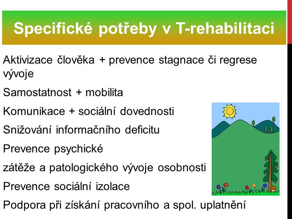 Specifické potřeby v T-rehabilitaci