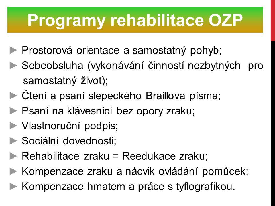 Programy rehabilitace OZP