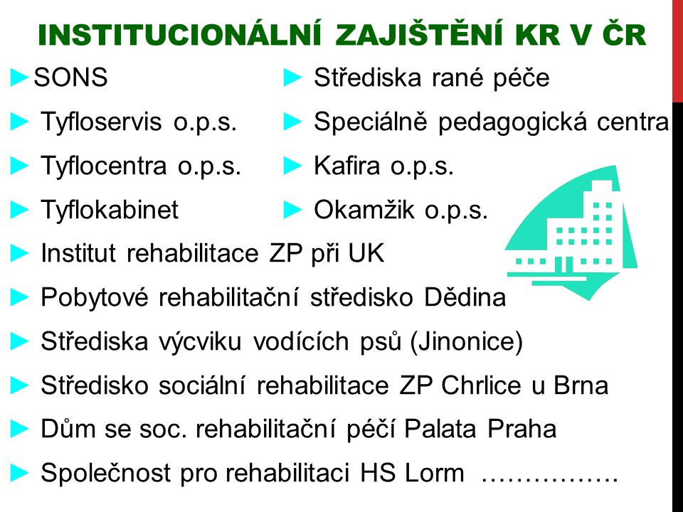 Institucionální zajištění KR v ČR