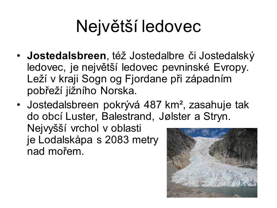 Největší ledovec
