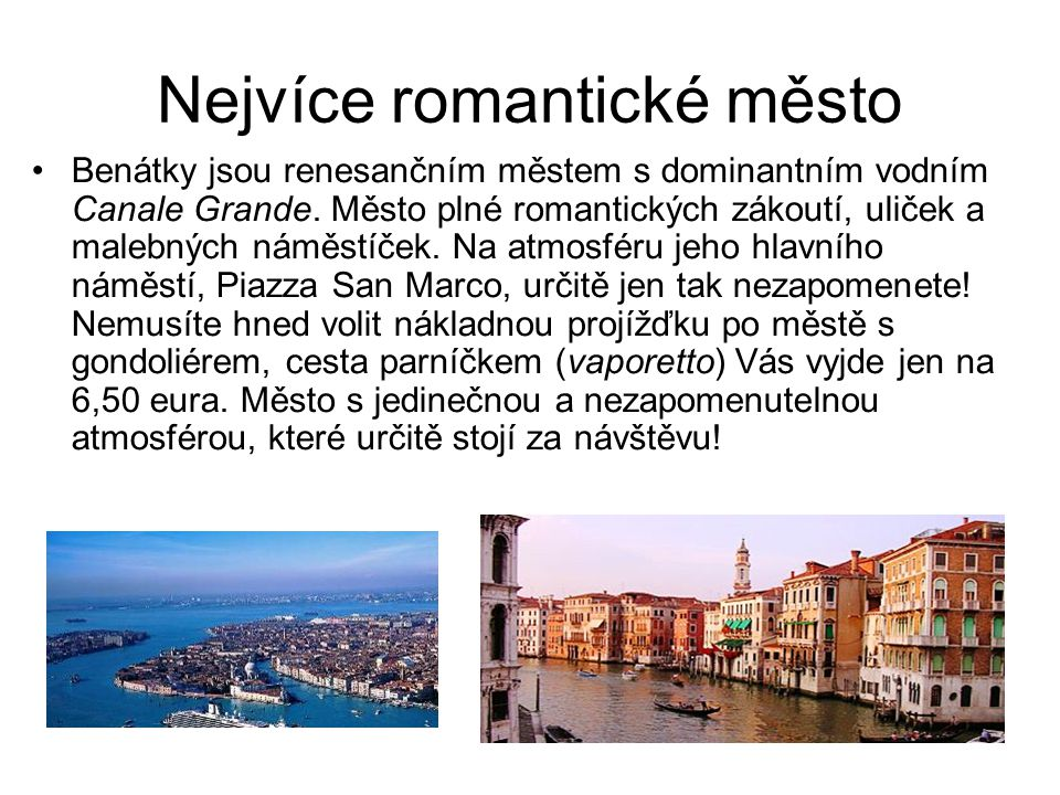 Nejvíce romantické město