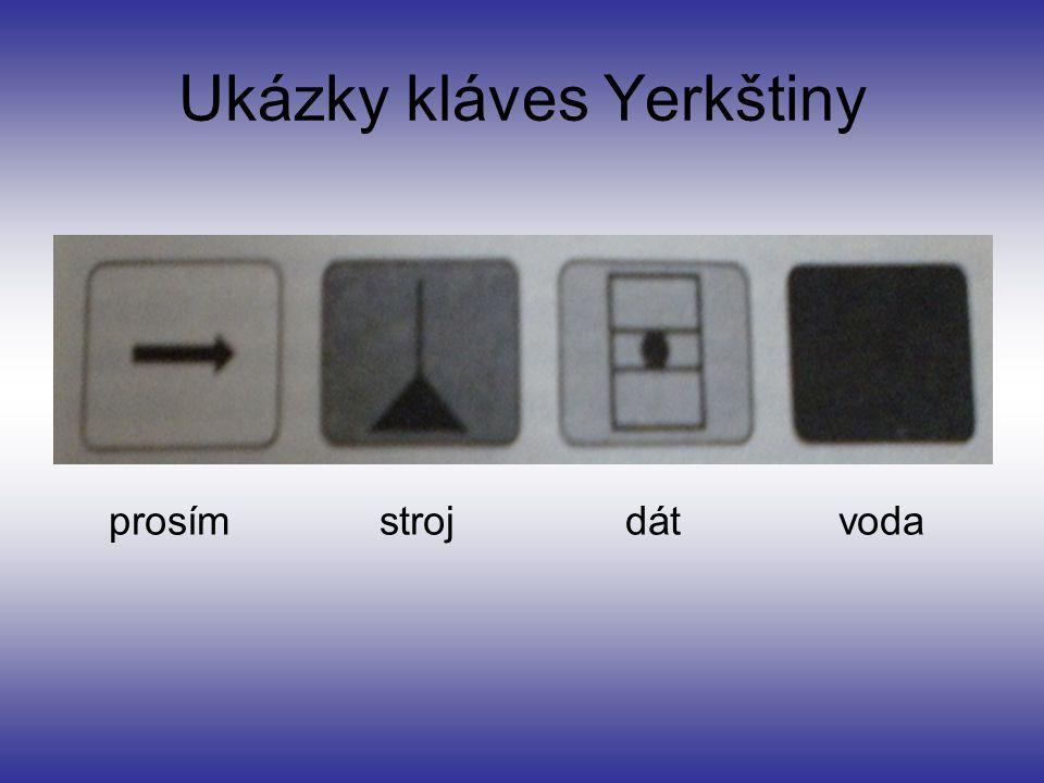Ukázky kláves Yerkštiny