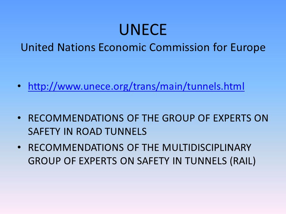 UNECE United Nations Economic Commission for Europe