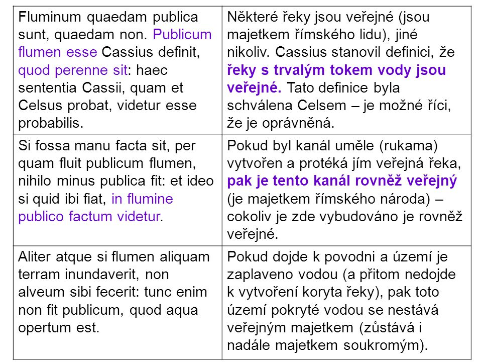 Fluminum quaedam publica sunt, quaedam non