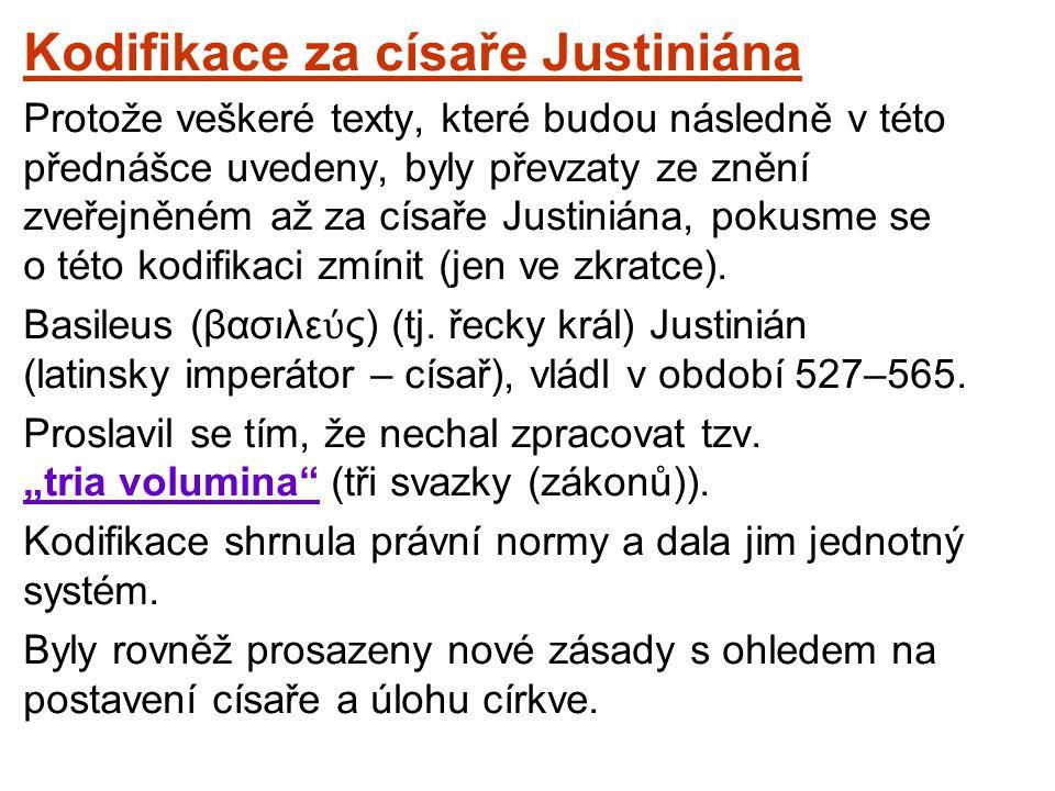 Kodifikace za císaře Justiniána