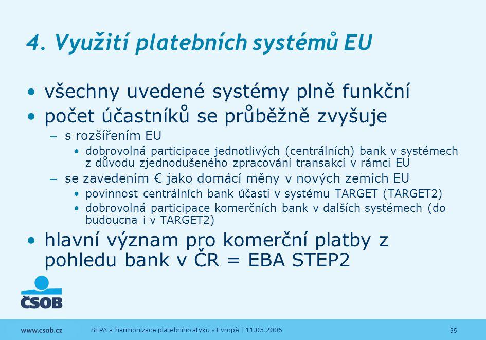 4. Využití platebních systémů EU